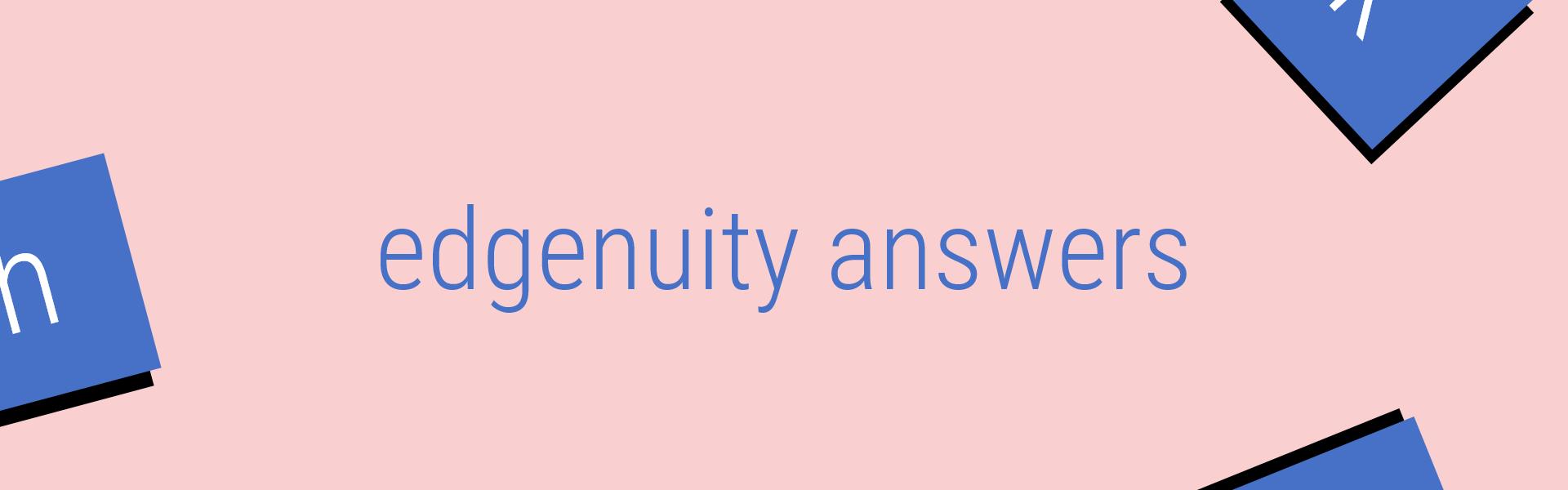 edgenuity answers